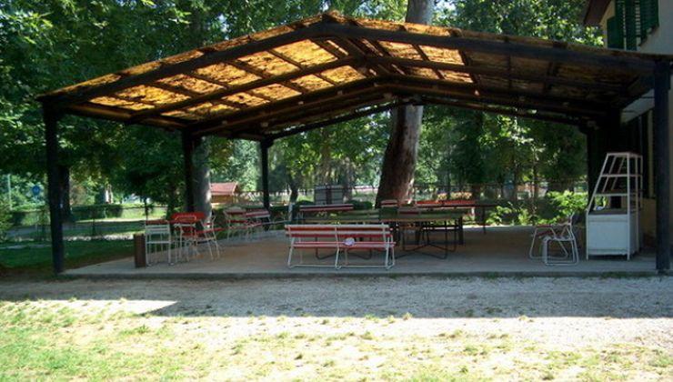 Gólyatábor helyszínek - Balatonszemes P. Ifjúsági Tábor - terasz